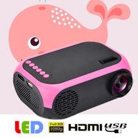 Mini 1080P HD Handheld LED Projector Multimedia Home Cinema Theater HDMI USB SD