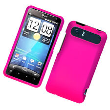 For AT&T HTC Vivid Protector Rubberized HARD Case Snap on Phone Cover Hot Pink