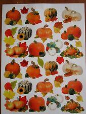 Pumpkins Fall Autumn Thanksgiving Halloween 24 Acid Free Stickers Scrapbooking