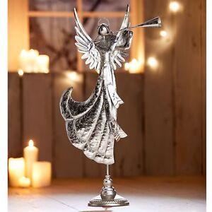 Deko-Figur Engel Juliette Eisen Weihnachtsdekoration lackiert 74 cm