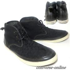 Uomini CONVERSE All Star VARVATOS Nero Pattino JOHN Grip Scarpe Da Ginnastica Medio Tg UK 9