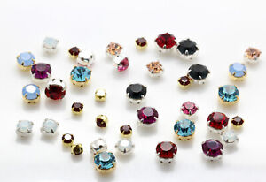 Genuine Preciosa Czech Crystal Chaton MAXIMA Crystals in Setting for Sewing