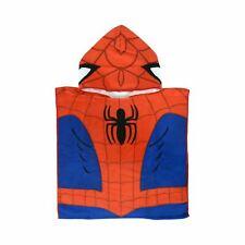 Marvel Spiderman Kids Poncho Towel Hooded Bath Beach Swimming Microfibre
