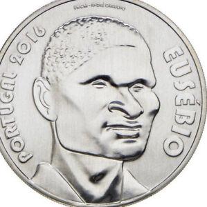 Portugal 🇵🇹 Coin 2016 Silver 7.5€ Euro Eusebio Football Panther 1966 World Cup