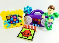VINTAGE BLUES CLUES Toy LOT 1998 Notebook Radio Skidoo Solar System Talking