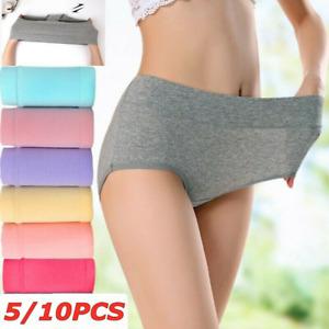 10PCS Women Cotton Underwear Panties Menstrual Period Leak Proof Seamless Briefs