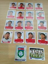 Korea DPR- Team-Panini World Cup Stickers x 19 Mint-Includes Shiny,players etc