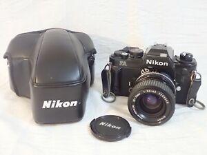 VINTAGE NIKON FA 35mm BLACK CAMERA BODY w/ ZOOM-NIKKOR 35~70mm 1:3.5~4.5 LENS