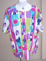 Bobbie Brooks NEW Tulip Floral Top Plus Size 2X SPRING blouse shirt tee knit NWT