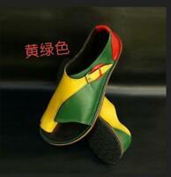 Womens Sandals Shoes Multicolor Roman Open Toe Beach Flats Retro Chic Size 35-43