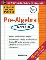 Practice Makes Perfect Pre-Algebra by Muschla, Erin (Paperback book, 2012)