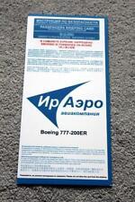 IRAERO BOEING 777-200ER SAFETY CARD