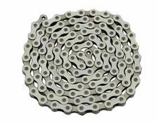 YBN Bicycle Chain 1/2x1/8x112 Links White Chrome BMX Urban Cruiser Bikes 123150