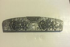 Vintage Denmark Danish Embossed Metal Comb Case With Tortoise Comb