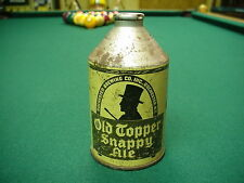 Old Topper Snappy Ale Cone Crown Top Beer Can