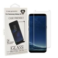 Samsung Galaxy S8 Case Friendly Tempered Glass Screen Protector Clear
