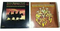 Sons Of The Pioneers Vinyl Records Lot of 2 Down Memory Trail & Room Full Roses