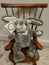 "Sweet Plush Bunny Rabbit Stuffed Animal Pink Bows Caring Gift Easter 11"""
