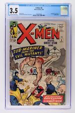 X-Men #6 - Marvel 1964 CGC 3.5 Sub-Mariner Appearance. Cyclops pin-up.