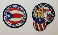VTG PATCH LOT OF 2 / PUERTO RICO VOLLEYBALL LEAGUE / 1992 & 2009