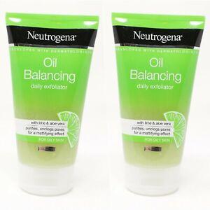Neutrogena 5.07 Oz Oil Balancing With Lime & Aloe Vera Daily Exfoliator 2 Pack