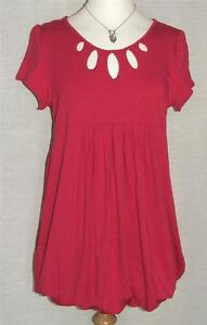 C&A NEW Deep Fuchsia Stretch Jersey Tunic with Cut-out Neckline  UK 24