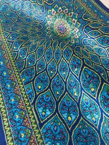 Persien Handmade rug carpet  100% pure silk W sign/Authentic Qomm/KPSI 700