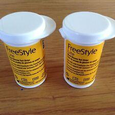 100 FreeStyle Lite Diabetic Glucose Test Strips 2 x 50 Expires 09/18 & 10/18