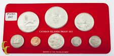 1981 Cayman Islands 8-Coin Proof Set The Franklin Mint w/ Box & CoA