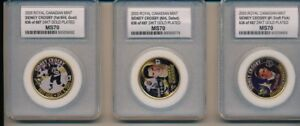 SIDNEY CROSBY 1ST ISSUE GOLD PLATED MEDALLION COIN ROYAL CANADIAN MINT MS70 SET