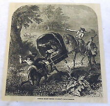 1880 magazine engraving ~ FRENCH ROADS BEFORE JOHN COLBERT'S IMPROVEMENTS Horses