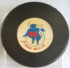 Scarce Vintage Converse Puck WHA World Hockey Association - B HAM Bulls VICEROY