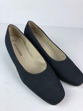 Naturalizer Navy Blue Pumps Shoes Sz 10 Fabric Heels Dual Action Foam Brazil J1
