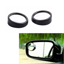 1 Pair Black Car SUV Blind Spot Mirror Rearview Wide Angle Round Convex Mirrors