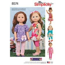 "Simplicity Pattern 8574 14"" DOLL CLOTHES  baby doll outfits"
