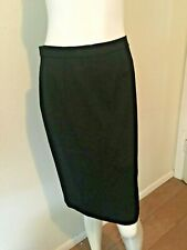 Sutton Studio Petite Black Formal Pencil Lined Polyester Skirt  2P  EUC