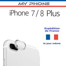 Anneau protection Lentille CAMERA IPHONE 7 / 8 PLUS ARGENT - verre photo arrière