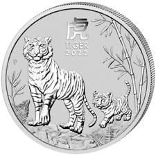 Australien Lunar III Jahr des Tiger Year of the Tiger 2022 2 OZ Silber Silver