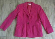 Chadwicks Women's Pink Wool Blend Blazer Jacket Size 14 NWOT
