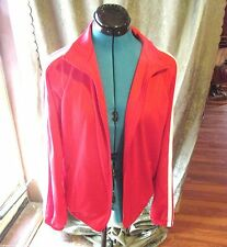 Augusta Silkscreen Warm Up Coat or Jacket Adult Size Small Red White Costume