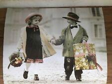 Kim Anderson Poster Verkerke 1998 girl boy holding hands cardboard