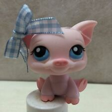 LITTLEST PET SHOP PIG PINK w/ BLUE EYES #87 / 305  USA seller 9 pics Ships FREE