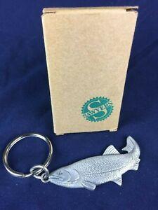 Vintage Avon Pewter Fish Keyring 1993 in Original Box