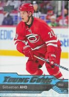 2016-17 Upper Deck #210 Sebastian Aho YOUNG GUNS RC