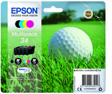 Epson 34, 34 CMY balle de golf Cartouche d'encre Conditionnement multiple - 3725DWF WF-3720DWF 3725 3720