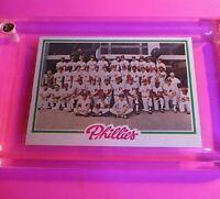 1978 TOPPS Baseball #381 PHILLIES TEAM CARD NrMt (High Grade!) Schmidt Carlton