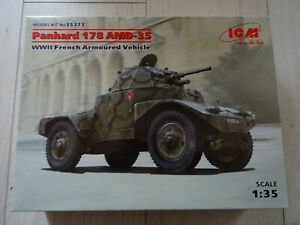 Maquette ICM 1/35 - Panhard 178 AMD-35 (french armoured vehicle)