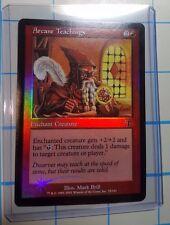 1x HOLDER & 1x Arcane Teachings MtG Judgment Foil Card NM