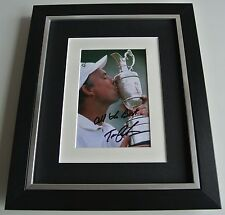 Tom Lehman SIGNED 10x8 FRAMED Photo mount Autograph Display Golf AFTAL & COA