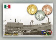 Mexico 1968 Olympic Medals. Estadio Olimpico Universitario (Stadium)